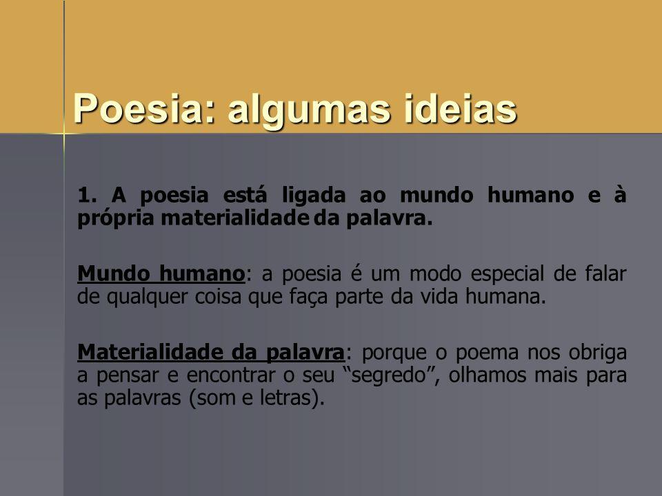 Poesia: algumas ideias