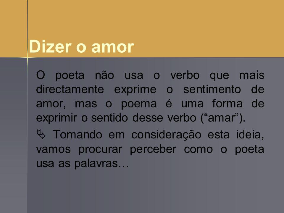 Dizer o amor