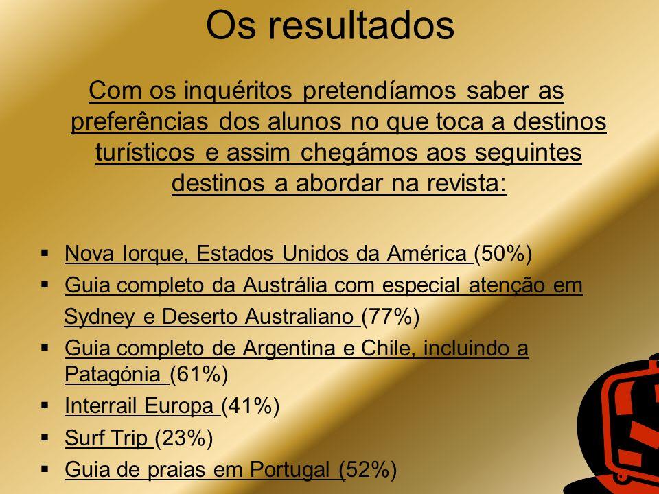 Os resultados