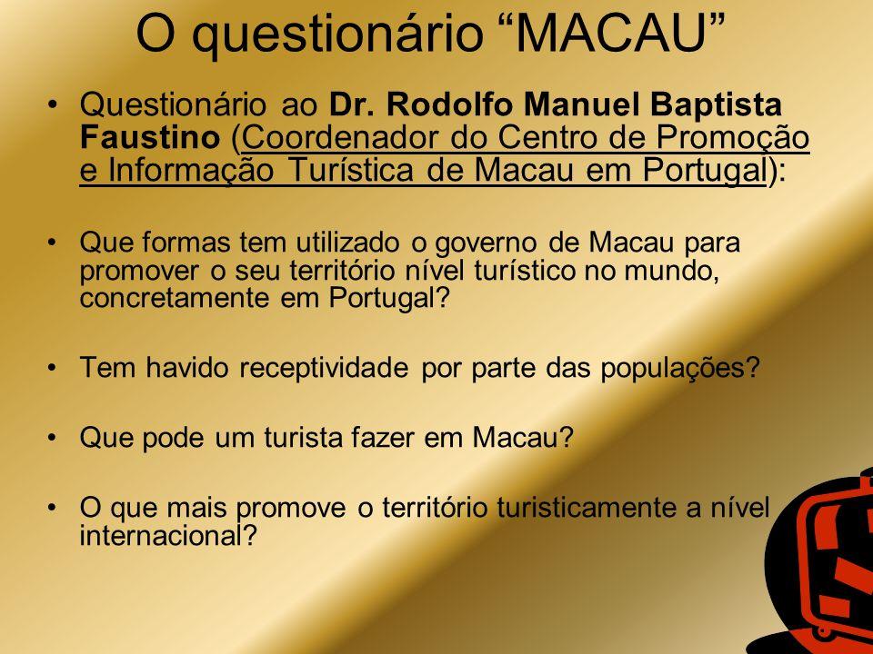 O questionário MACAU