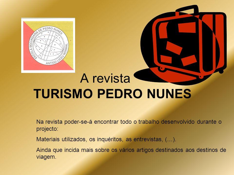 A revista TURISMO PEDRO NUNES