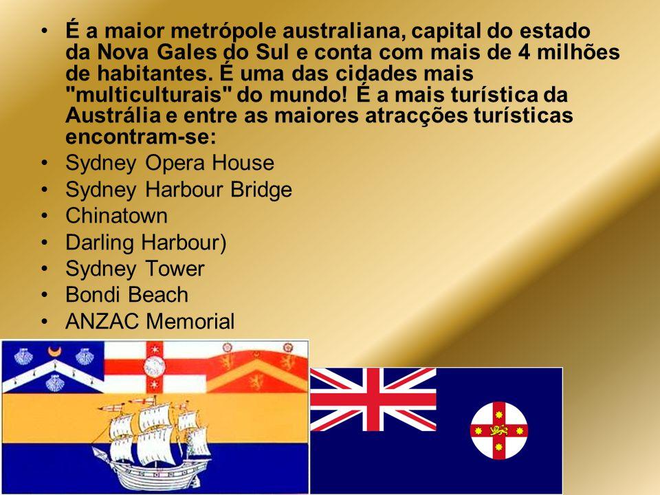 É a maior metrópole australiana, capital do estado da Nova Gales do Sul e conta com mais de 4 milhões de habitantes. É uma das cidades mais multiculturais do mundo! É a mais turística da Austrália e entre as maiores atracções turísticas encontram-se: