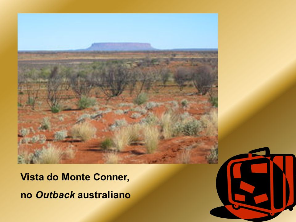 Vista do Monte Conner, no Outback australiano