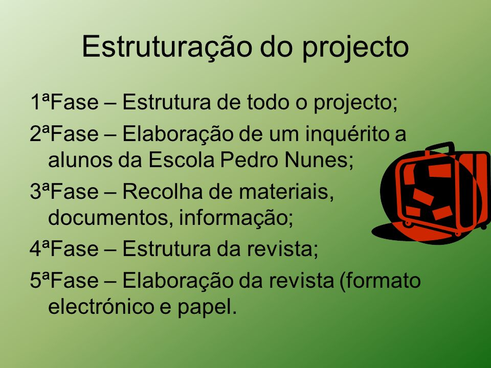 Estruturação do projecto