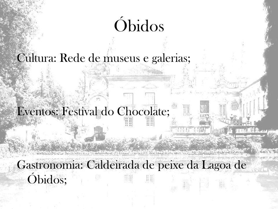 Óbidos Cultura: Rede de museus e galerias;