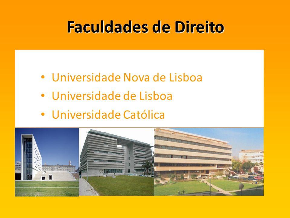 Faculdades de Direito Universidade Nova de Lisboa