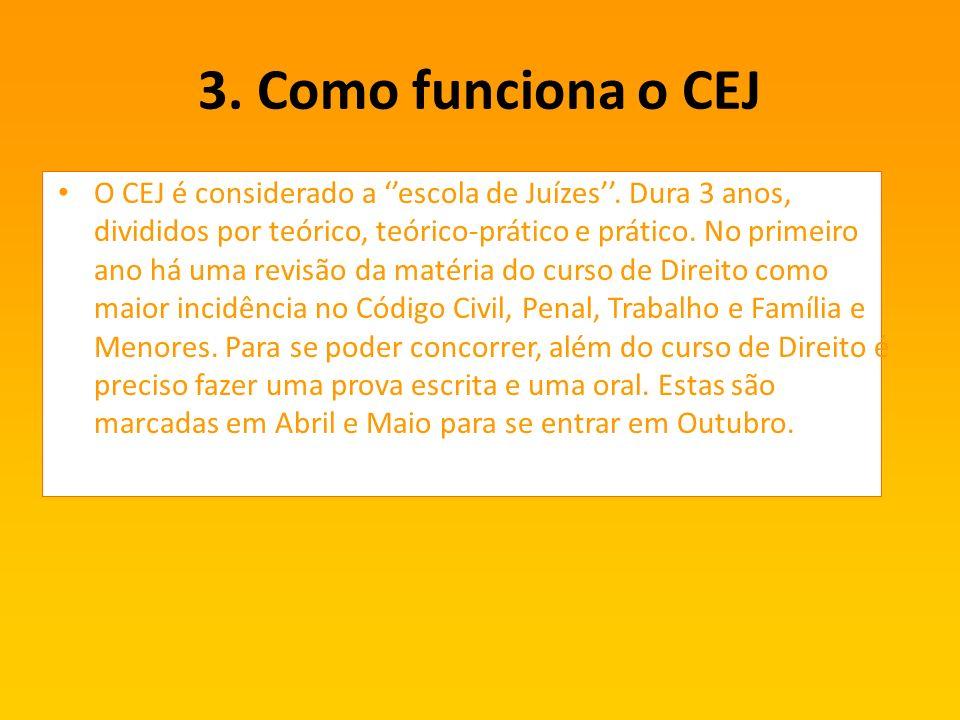 3. Como funciona o CEJ