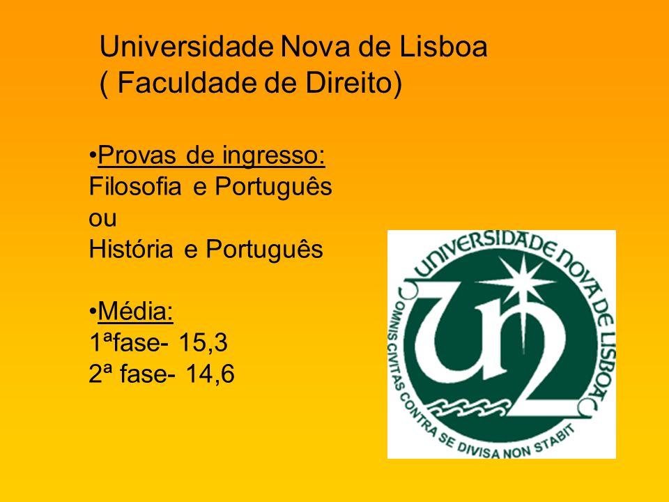 Universidade Nova de Lisboa ( Faculdade de Direito)