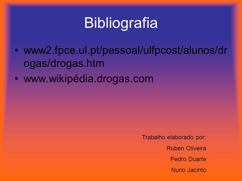 Bibliografia www2.fpce.ul.pt/pessoal/ulfpcost/alunos/drogas/drogas.htm