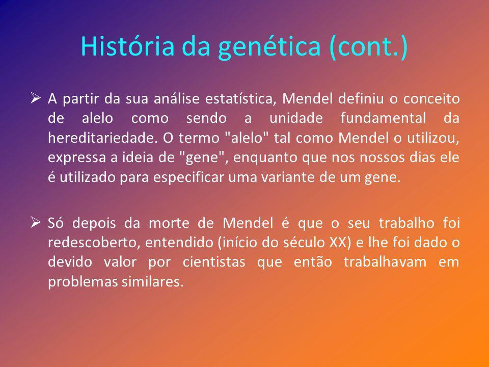 História da genética (cont.)