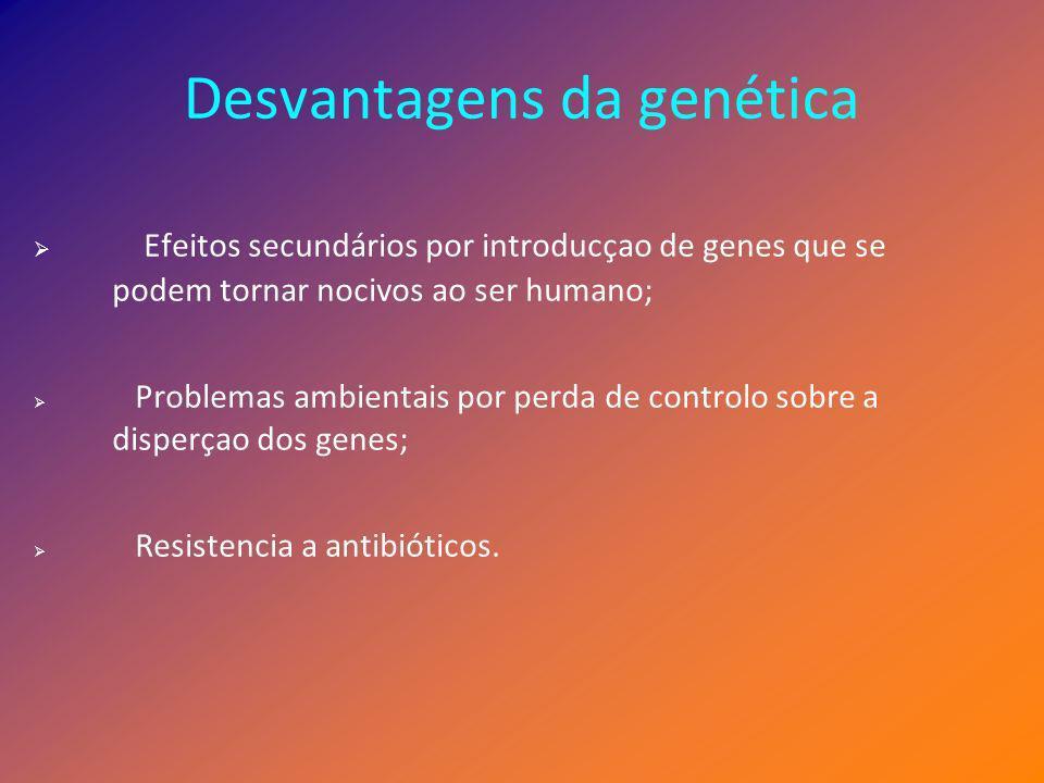 Desvantagens da genética