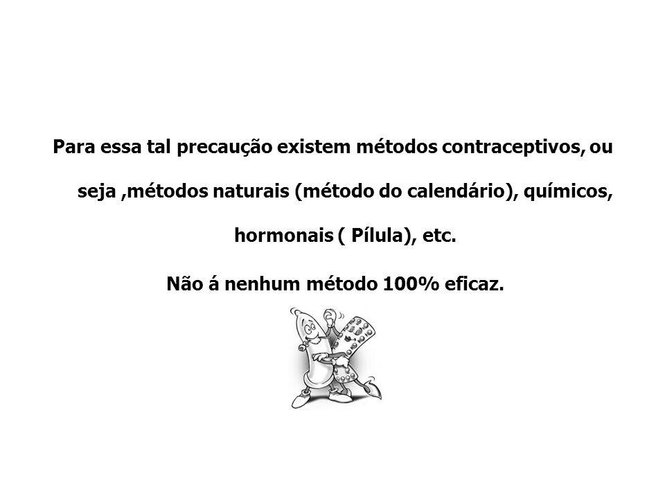 Para essa tal precaução existem métodos contraceptivos, ou seja ,métodos naturais (método do calendário), químicos, hormonais ( Pílula), etc.