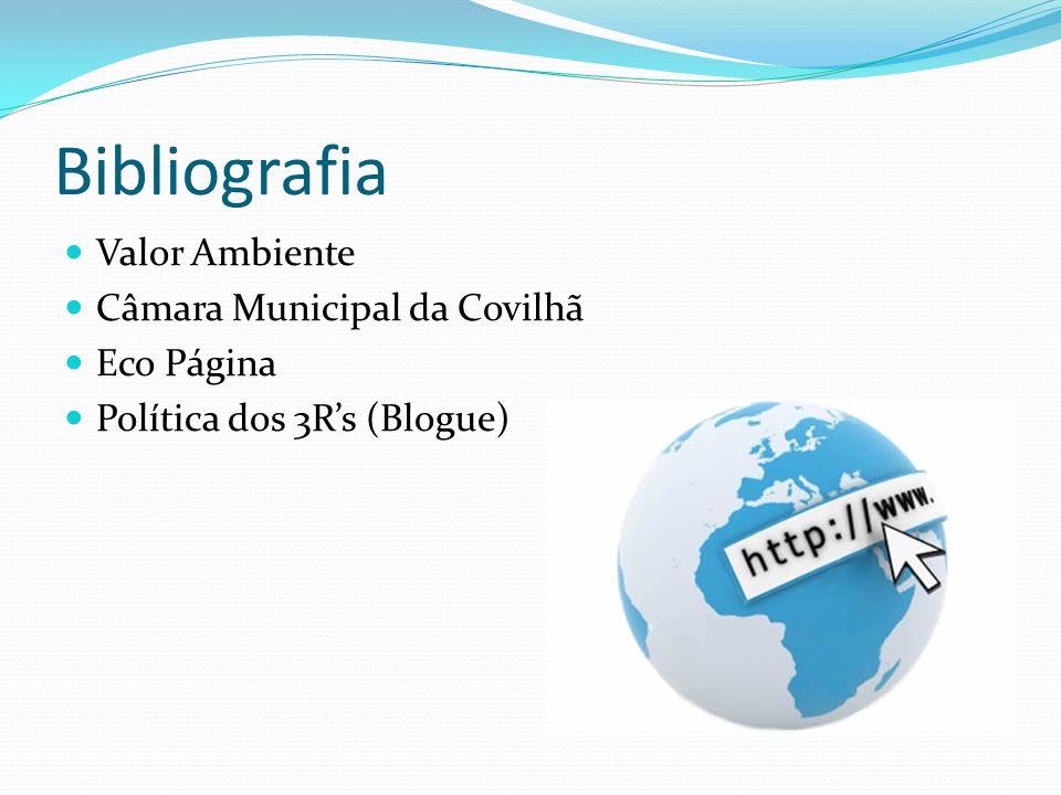 Bibliografia Valor Ambiente Câmara Municipal da Covilhã Eco Página