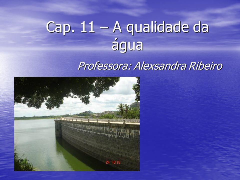 Cap. 11 – A qualidade da água