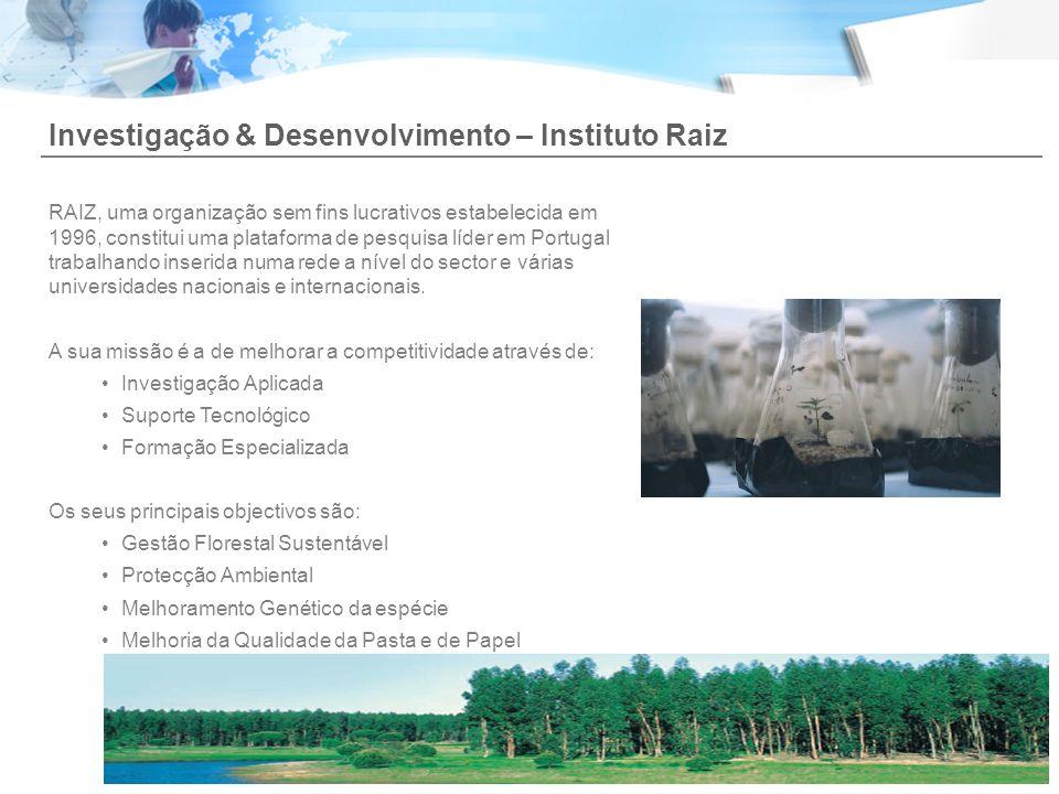 Investigação & Desenvolvimento – Instituto Raiz