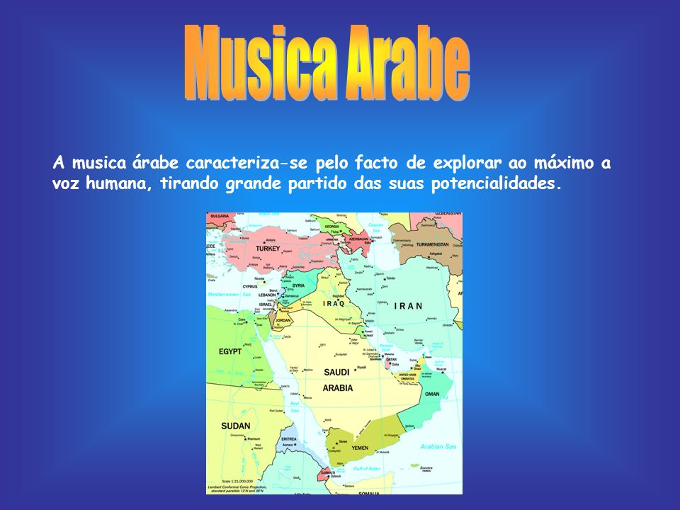 Musica Arabe A musica árabe caracteriza-se pelo facto de explorar ao máximo a voz humana, tirando grande partido das suas potencialidades.