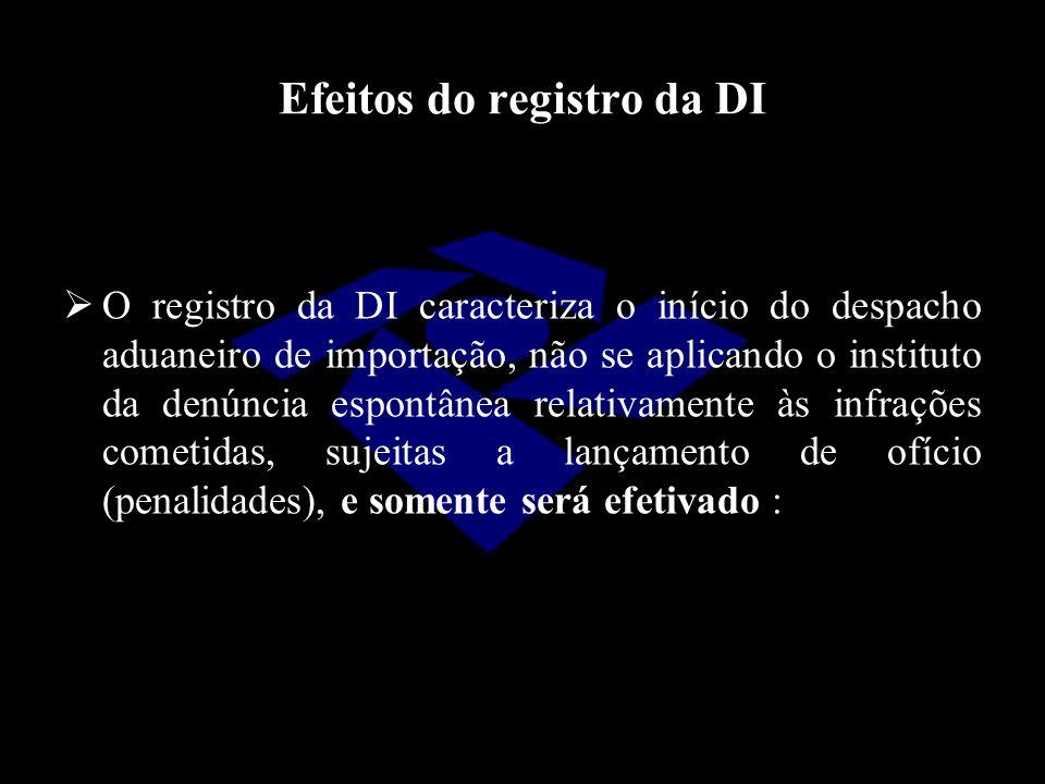 Efeitos do registro da DI