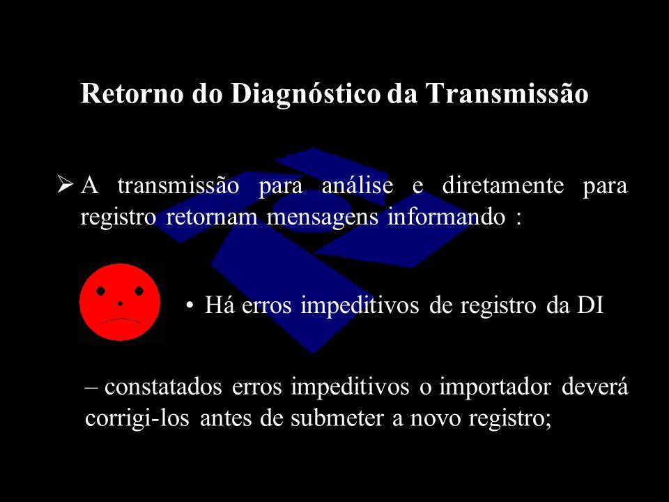 Retorno do Diagnóstico da Transmissão