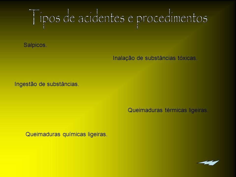 Tipos de acidentes e procedimentos