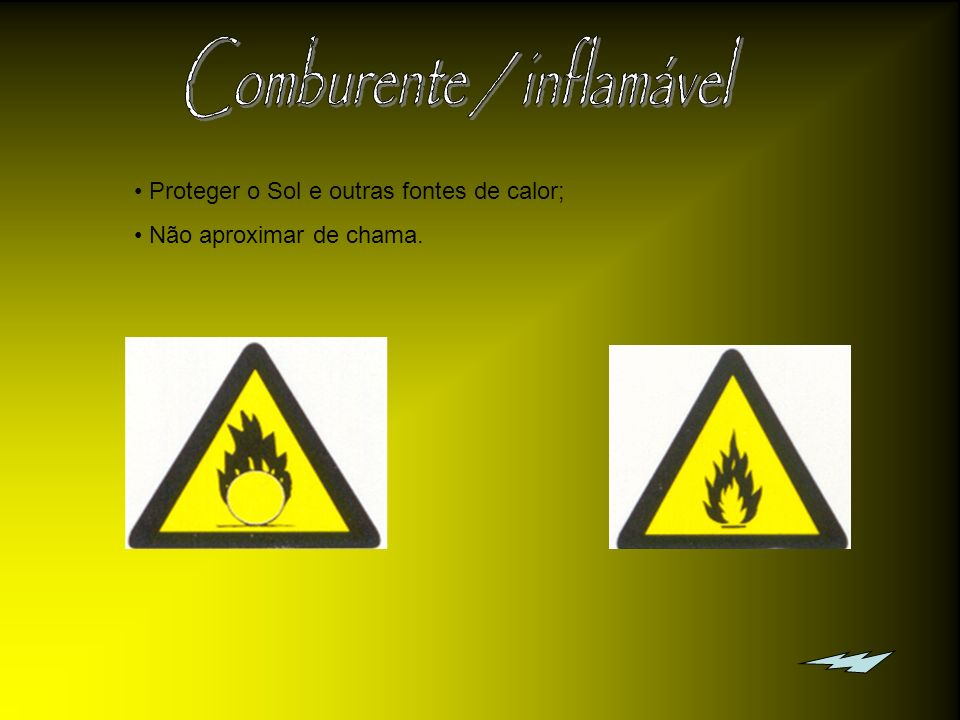 Comburente / inflamável
