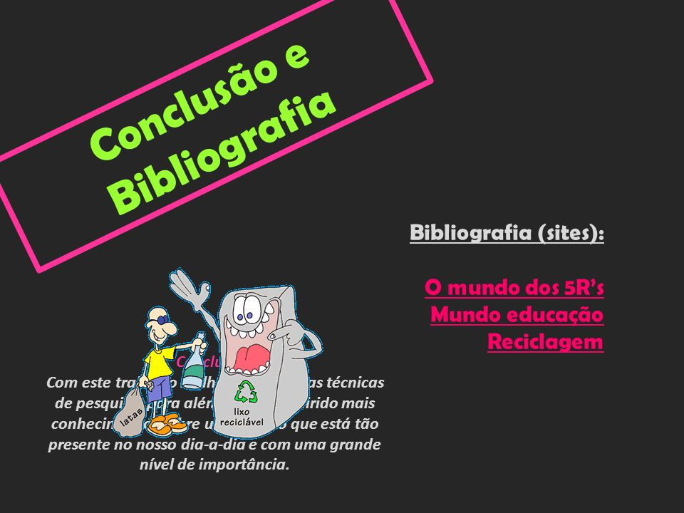 Conclusão e Bibliografia