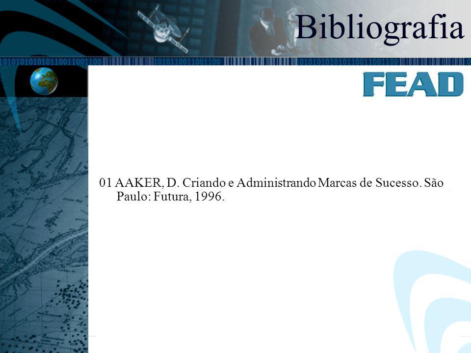 07:46 Bibliografia 01 AAKER, D. Criando e Administrando Marcas de Sucesso. São Paulo: Futura, 1996.