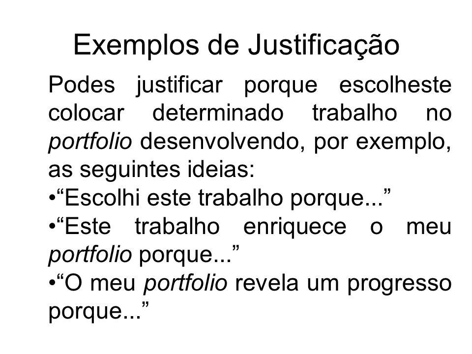 Exemplos de Justificação