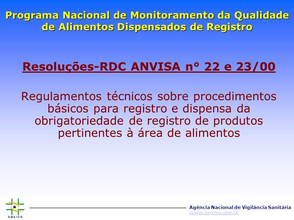 Resoluções-RDC ANVISA n° 22 e 23/00