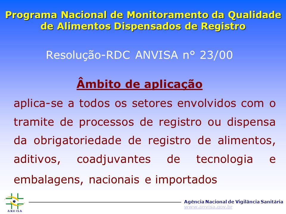 Resolução-RDC ANVISA n° 23/00