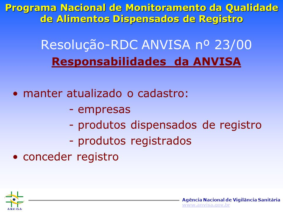 Resolução-RDC ANVISA nº 23/00