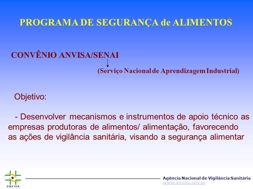 PROGRAMA DE SEGURANÇA de ALIMENTOS