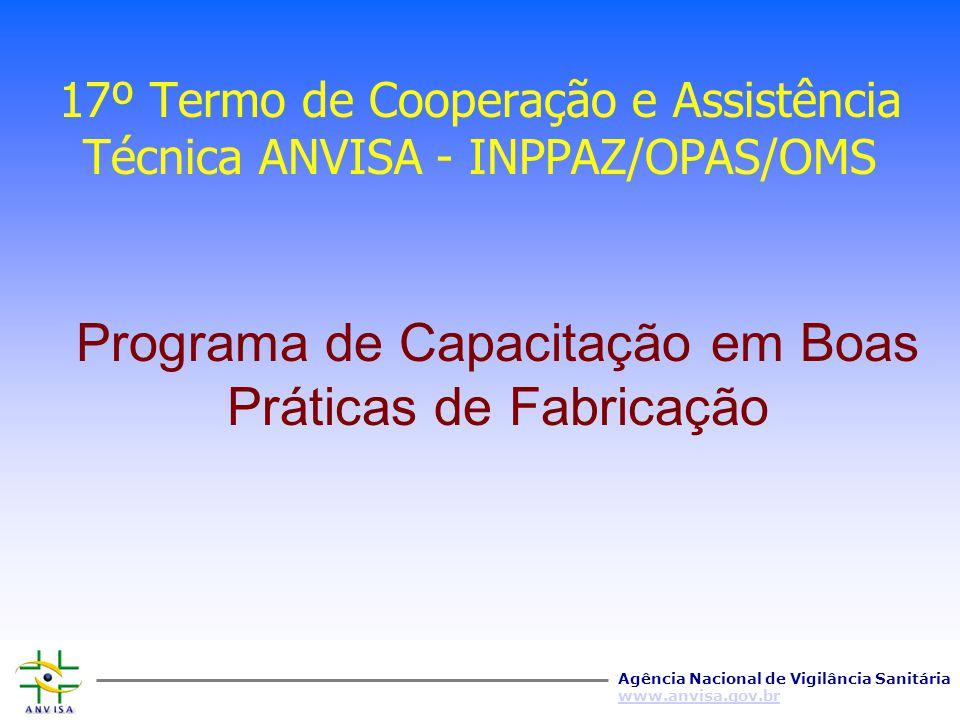 17º Termo de Cooperação e Assistência Técnica ANVISA - INPPAZ/OPAS/OMS