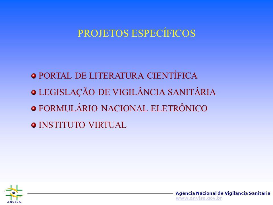 PROJETOS ESPECÍFICOS PORTAL DE LITERATURA CIENTÍFICA