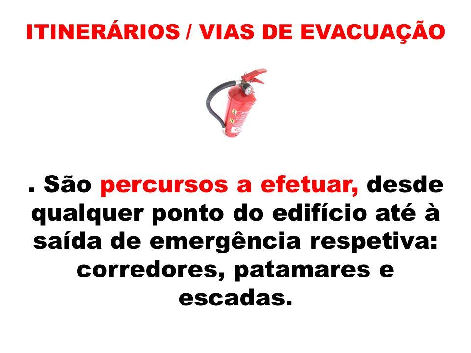 ITINERÁRIOS / VIAS DE EVACUAÇÃO