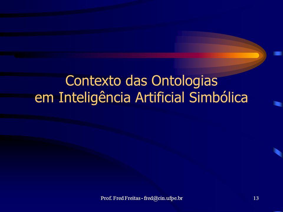 Contexto das Ontologias em Inteligência Artificial Simbólica