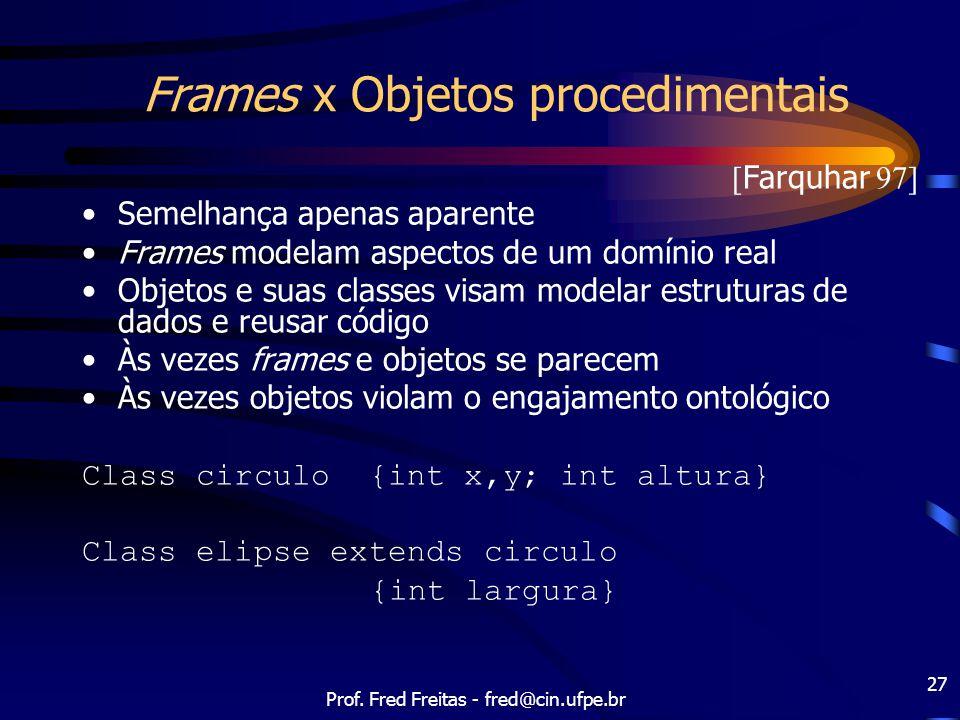 Frames x Objetos procedimentais