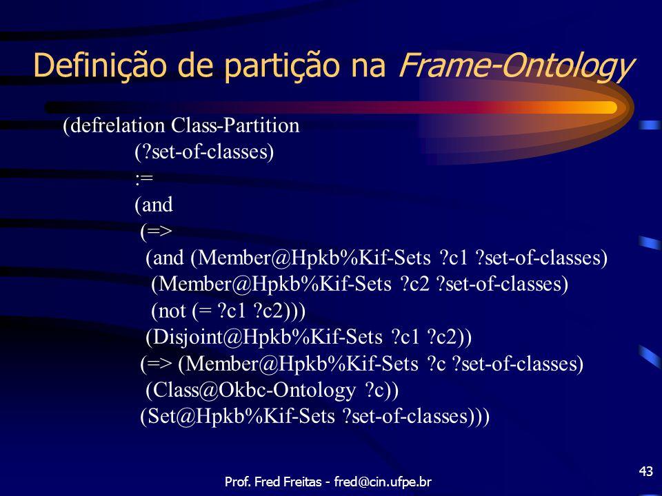 Definição de partição na Frame-Ontology