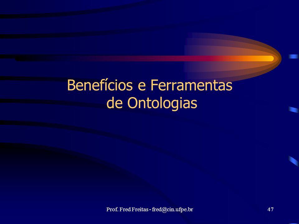 Benefícios e Ferramentas de Ontologias