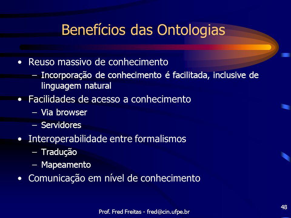 Benefícios das Ontologias