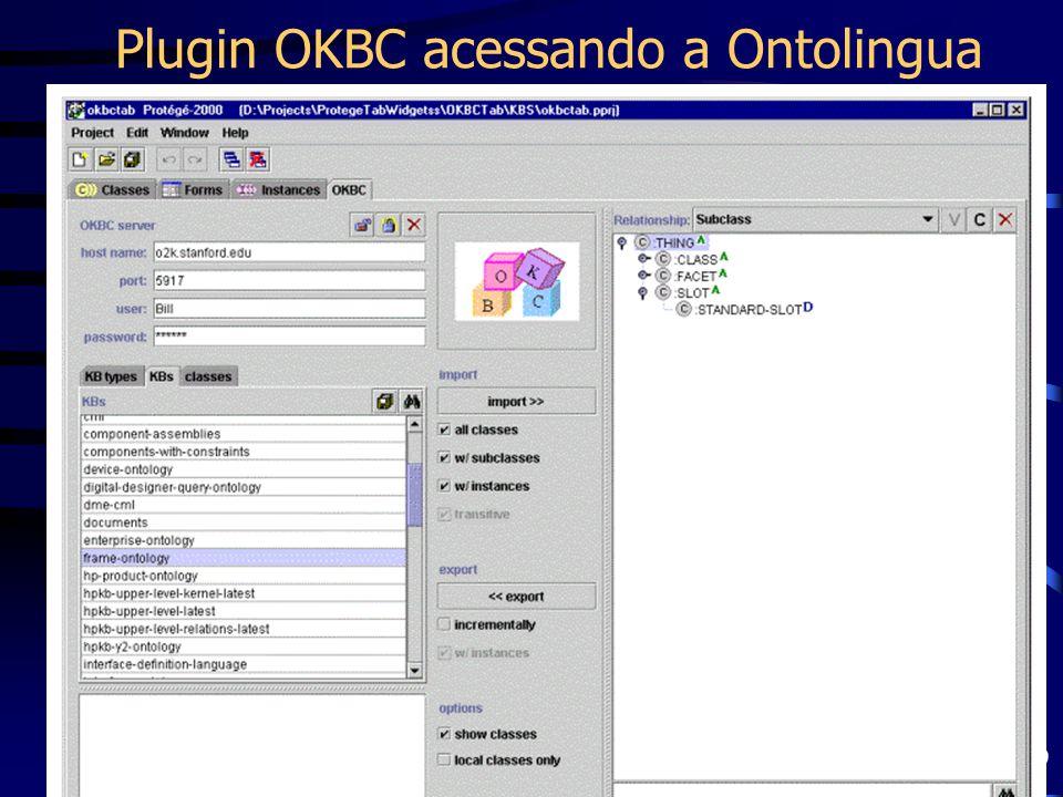 Plugin OKBC acessando a Ontolingua