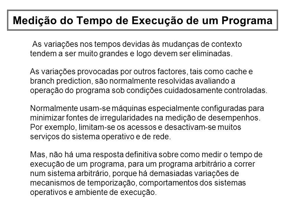 Medição do Tempo de Execução de um Programa