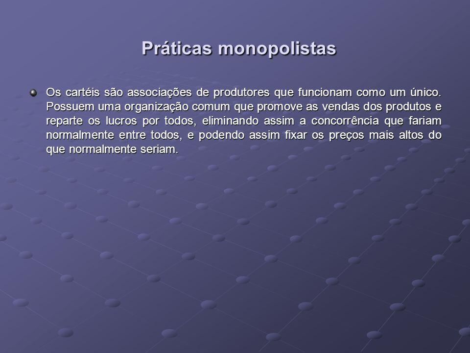 Práticas monopolistas