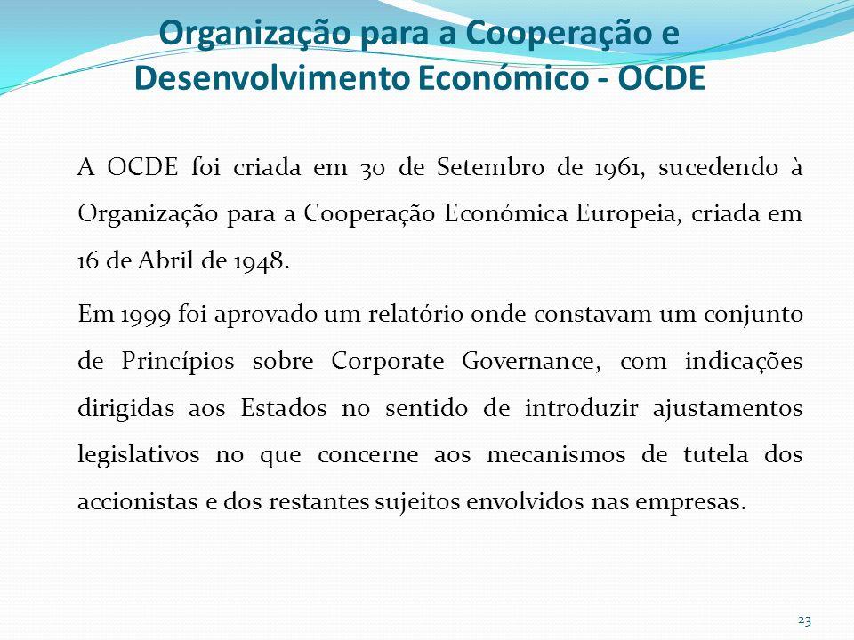 Organização para a Cooperação e Desenvolvimento Económico - OCDE
