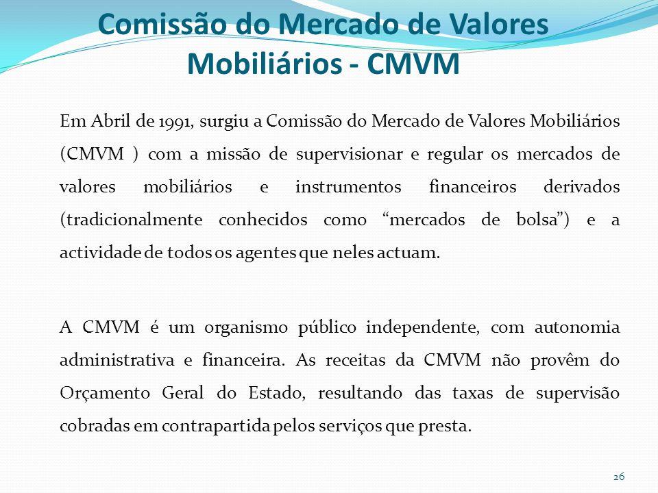 Comissão do Mercado de Valores Mobiliários - CMVM