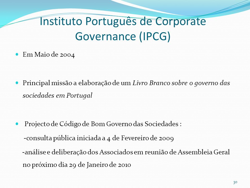Instituto Português de Corporate Governance (IPCG)