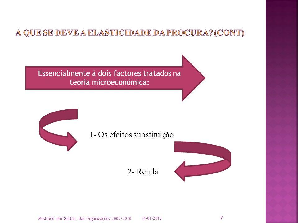 A que se deve a elasticidade da procura (cont)