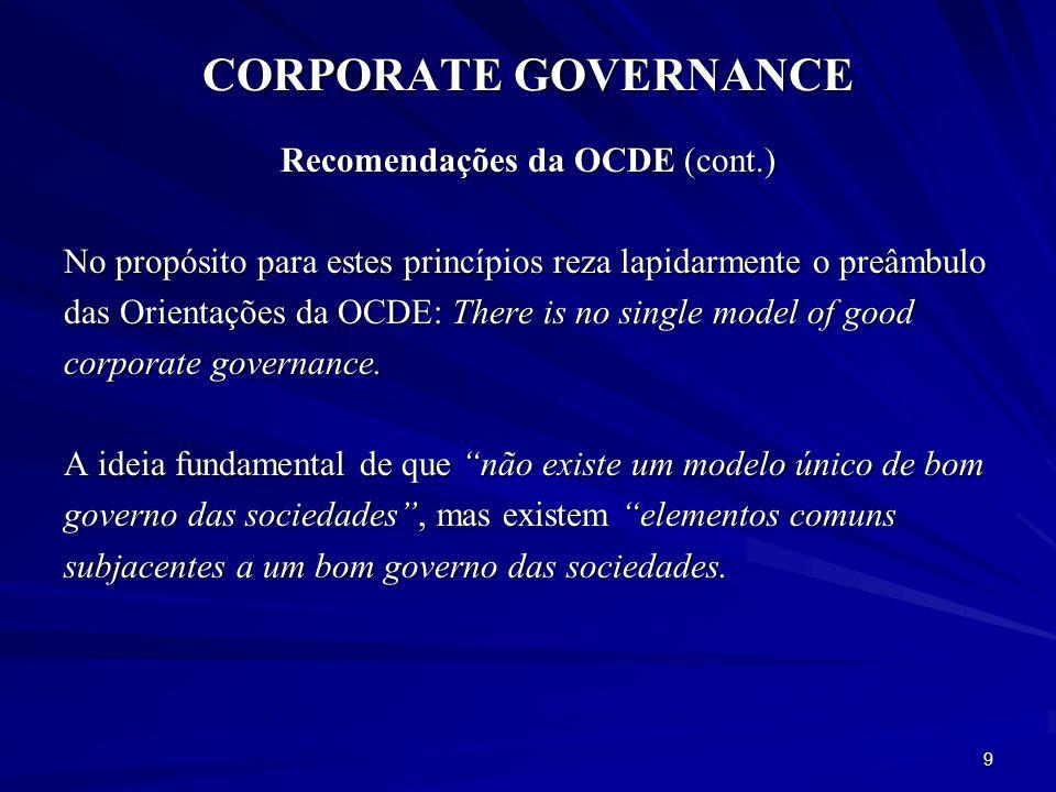 Recomendações da OCDE (cont.)