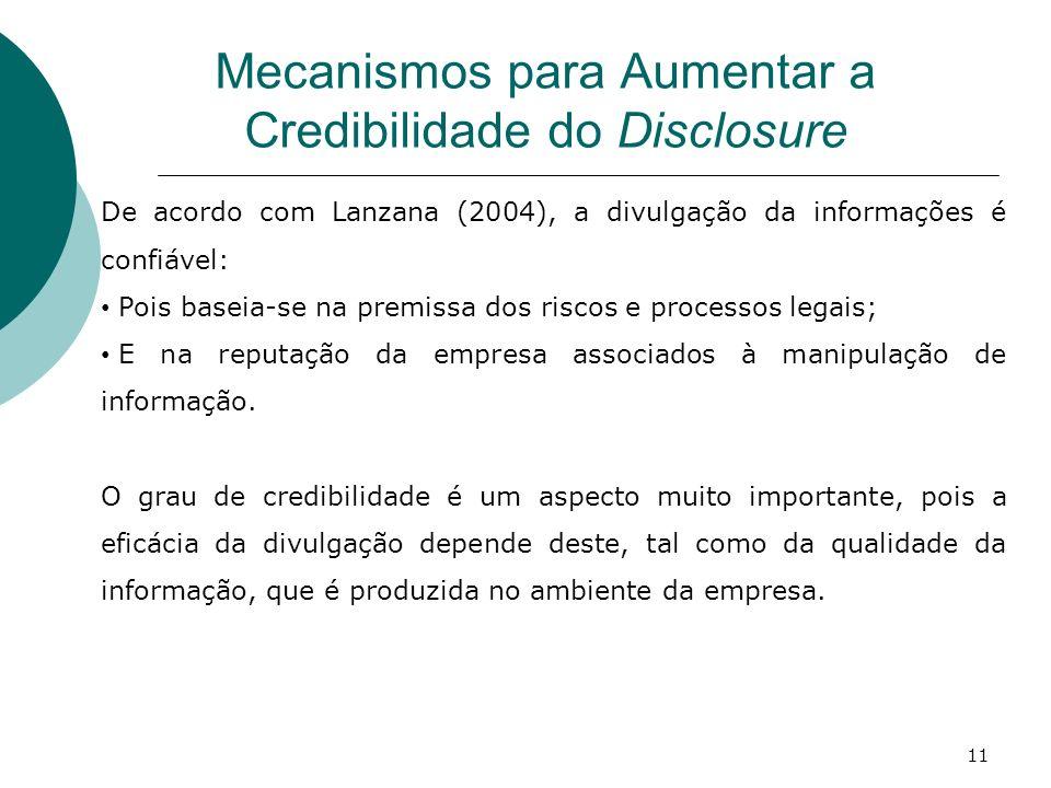 Mecanismos para Aumentar a Credibilidade do Disclosure