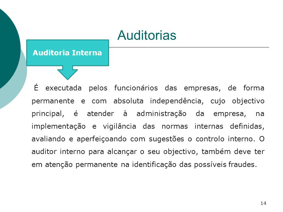 Auditorias Auditoria Interna