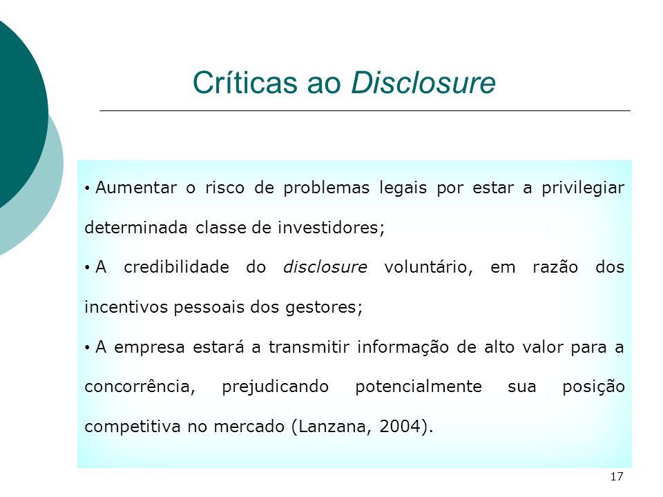 Críticas ao Disclosure